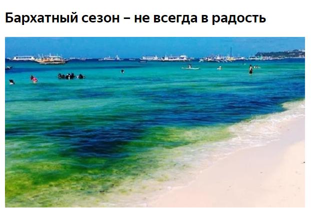 Когда в Анапе зацветает море?
