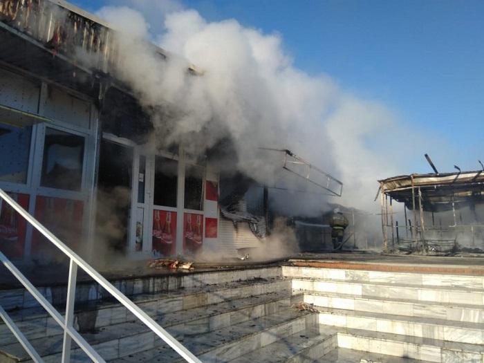 Сильный пожар рядом с Анапой: загорелись роллеты
