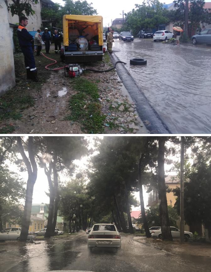 Сегодня 10.07.2019 г., - что натворил дождь в Витязево и Анапе (видео)